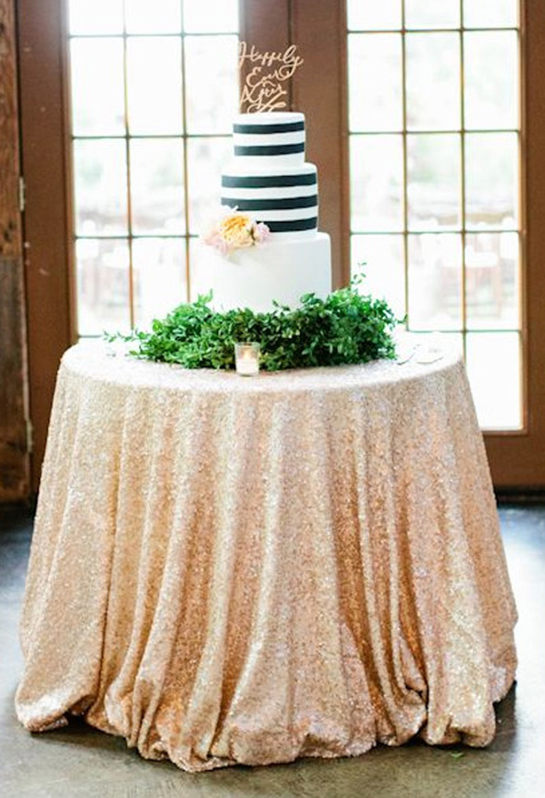 beaded table linens