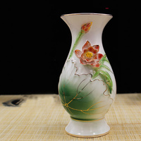 For Buddha Porcelain Vases Lotus Design Flower Ceramic Vase Home Decoration Flower Vases