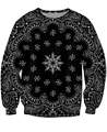 Women Men 3D Bandana Crewneck Sweatshirt Black Sexy Jumper Tops Pullover Sweats Sweatshirts Autumn Spring Crewnecks SWEAT