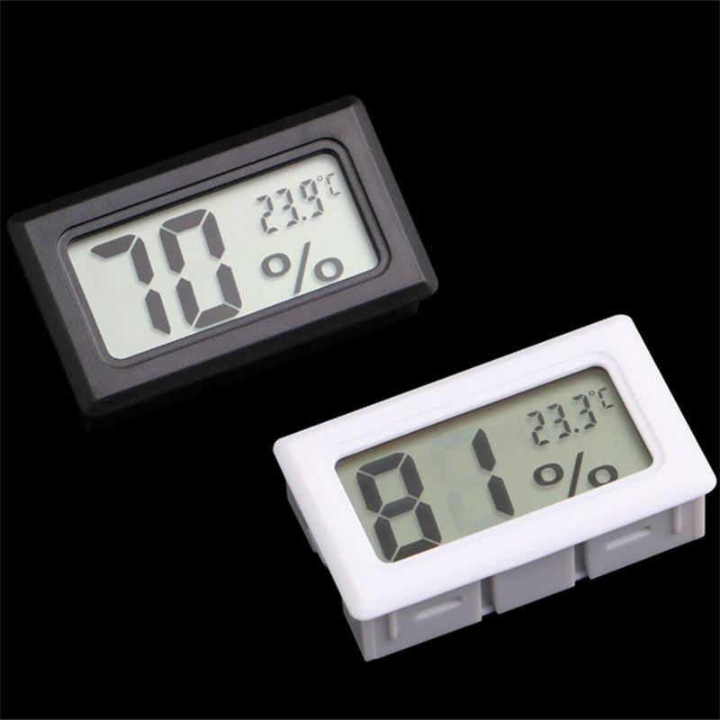 Mini Black Digital LCD Temperature Humidity Meter Indoor Thermometer Temperature Sensor Desktop Office Supplies