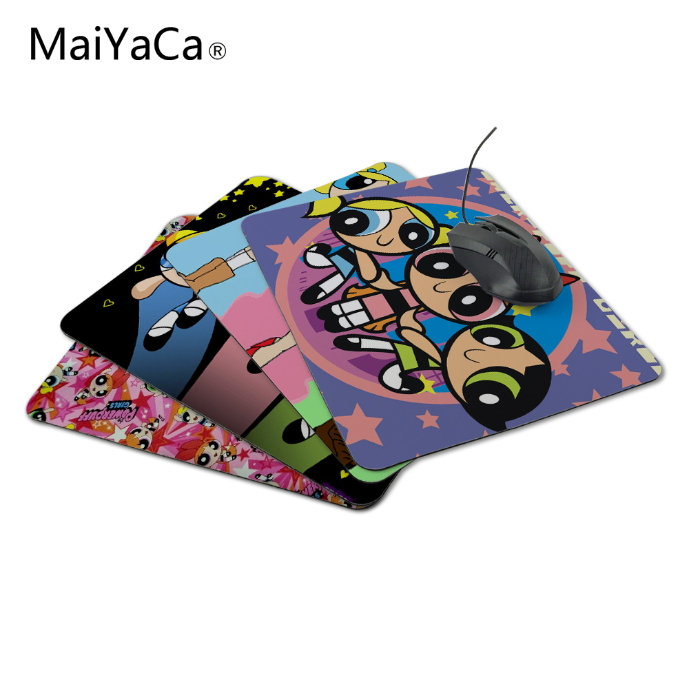 MaiYaCa Customized Luxury Print Beauty Japanese Powerpuff Girls Mouse Mat for Optical /Trackball Mouse Drop Shipping Service