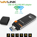 Wavlink AC1300 5 Adaptador Wi-fi USB Sem Fio GHz & 2.4GHz Dual Band USB WiFi Adaptador Mini Dongle Placa De Rede Com O Botão WPS WDS AP