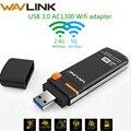 Wavlink AC1300 5 adaptador wi-fi USB sem fio ghz & 2.4 ghz Dual Band USB WiFi Adaptador mini Dongle Placa de Rede com o Botão WPS WDS AP