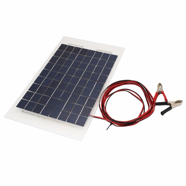 mvpower portable 18v 10w solar panel bank diy solar charger panel external battery for car with