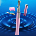 Fashion Designer Blade Electric Eyebrow Trimmer With Eyebrow Comb Brush Face Eyebrow Hair Body Mini Portable Blade Razor