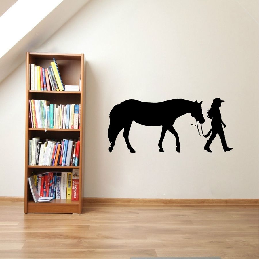 Horse Home Decor: Home Decor Horse And Rider Vinyl Wall Stickers Home Art