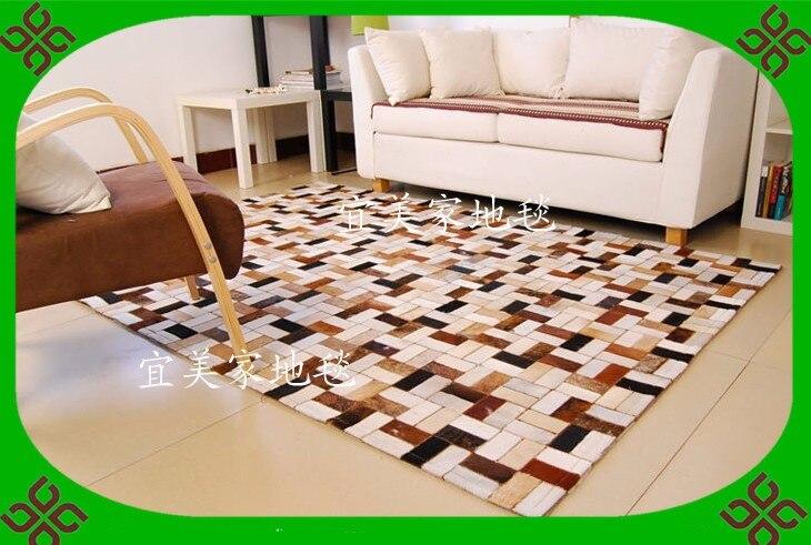 Fashionable art carpet 100% natural genuine cowhide leather fitness carpetFashionable art carpet 100% natural genuine cowhide leather fitness carpet
