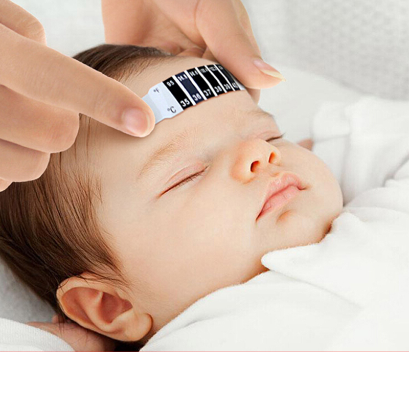 10PCS Baby Thermometer Reusable Toddler Forehead Care New Health Monitors Simple Fast Temperature Measuring Paste Free Shipping