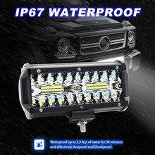 2 adet 7 inç LED ışık çubuğu 240W Offroad sürüş ışıkları LED çalışma lambaları Jeep arabalar için LED lambalar Luces Led para oto