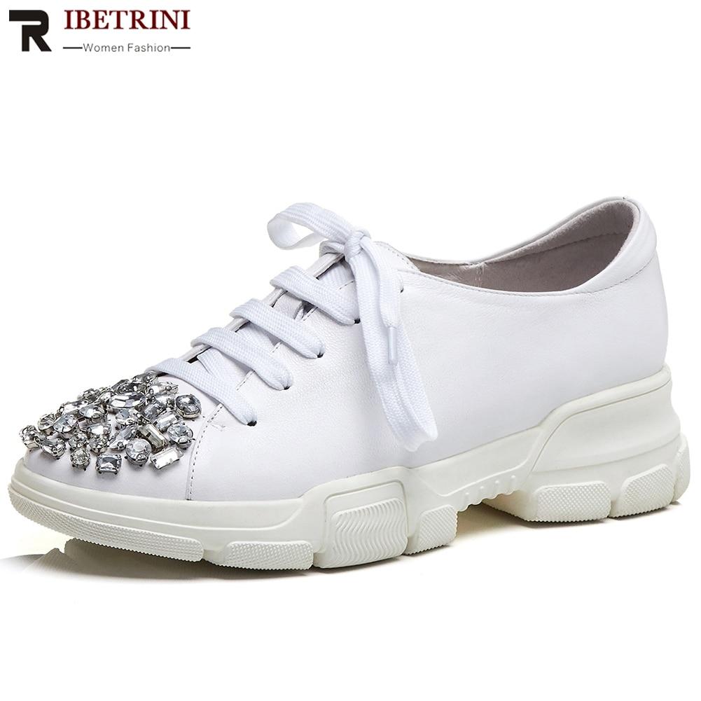 3964c07a01f191 Plate Qualité Ribetrini Noir Mocassins Pour Chaude Lacets À D'été 2019  Chaussures 34 Directe forme Femme ...