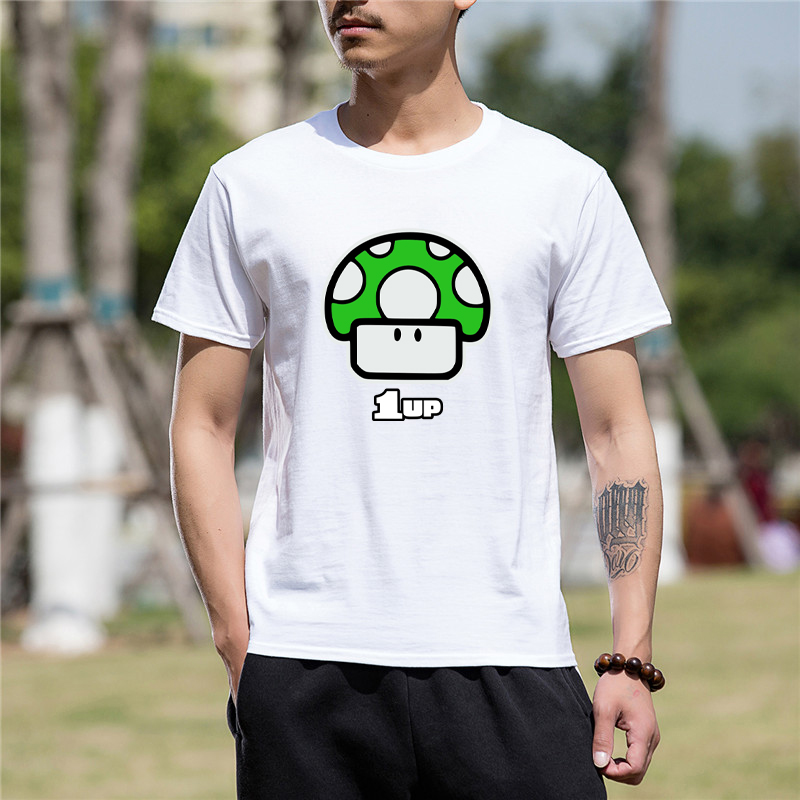 2017 Funny Graphic Funny Game Super Mario Bros 1up Funny T Shirt for men