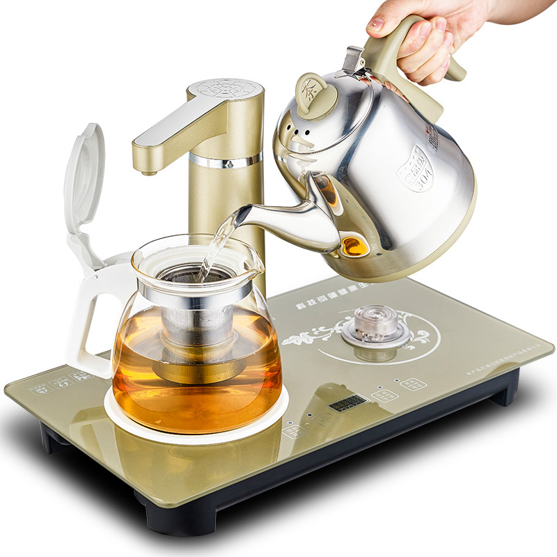 Electric kettle Electromagnetic tea furnace automatic upper water electric pump and set make pot Overheat Protection free shipping automatic water supply electric kettle tea set pumping furnace