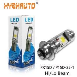 1 sztuk H6M P15D 25 1 Led reflektor motocyklowy PX15D Hi/lo wiązka led Moto reflektor motocyklowy światła przeciwmgielne Super bright 10W 1000 lm 12v na
