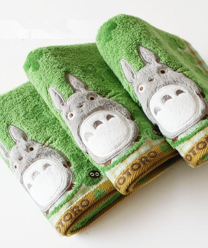 2018 Quality Baby Cotton Cartoon Totoro Face Towel Baby Towel Wash Cloth Handkerchiefs Infant Baby Feeding Saliva Towel