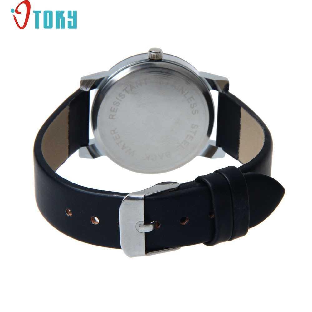 Mode créative 1 PC montre hommes cadran horloge en cuir poignet montre à Quartz, décontracté, relogio masculino
