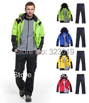 2013 automne nouveauté, hommes SPORT veste de survêtement ensemble, hommes Ski costume 2 PC veste + pantalon, imperméable et windprooffree expédition