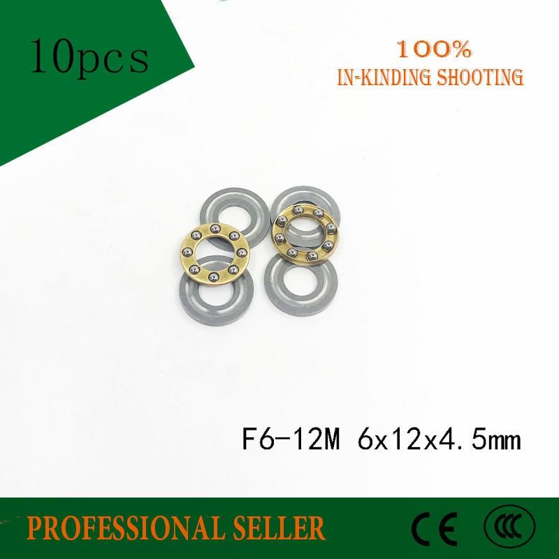 Free Shipping 10 Pcs F6-12M High Quality Thrust Ball Bearing 6x12x4.5mm Miniature Bearing