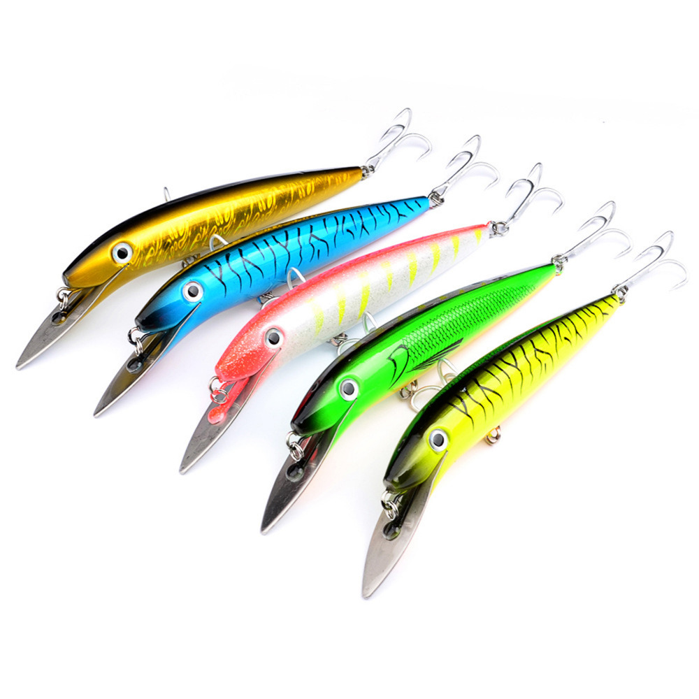 5PCS Fishing Big Pencil Popper Minnow Fish Bass lure hook baits 20cm/45g