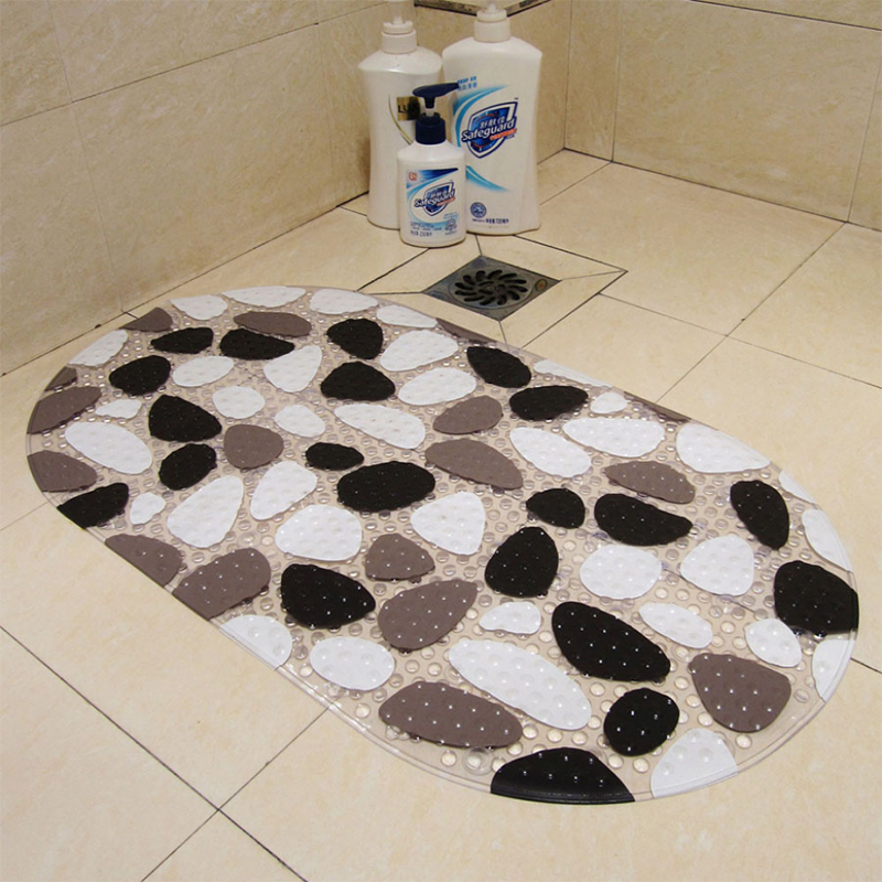 Simple Anti skid Carpets Antibacterial PVC Bathroom Mats Transparent Shower Room Rugs Stone Animal Plant Cartoon Pattern|Rug| |  - title=