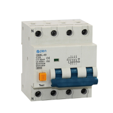 OB8L-40 3P+N 20A/25A/32A Residual Current  Circuit Breaker 30mA  RCBO for Overload , Residual current,  Short Circuit Protection chnt dz47le 4p 10a 16a 20a 25a 32a 40a 50a 60a residual current circuit breaker rcbo