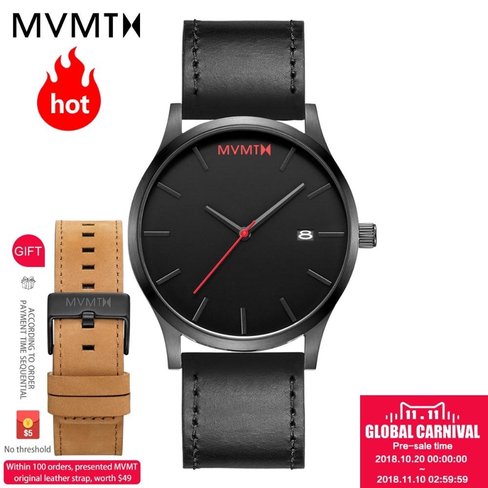 MVMT reloj | Web Oficial autorizado genuino reloj de los hombres de moda con correa de piel genuina/acero reloj 45 mmdw