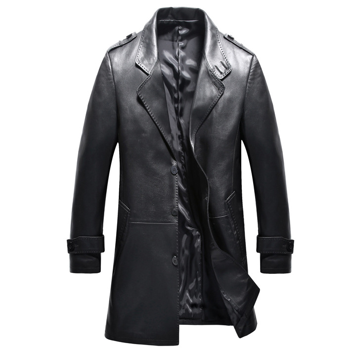 2017 new arrival autumn 100% real Leather Sheepskin trench coat men,Leather jacket men