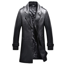 2016 new arrival autumn 100 real Leather Sheepskin trench coat men Leather jacket men