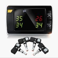 Dobrej Jakości Oryginalny Pomarańczowy TPMS P409S Wysokiej Jasności Wyświetlacz LED Pojazd 4-kołowy Bezprzewodowy System Monitorowania Ciśnienia w Oponach Samochodu