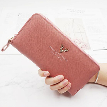 цены 2019 Women's Wallet Women purse portefeuille femme Fashion Long Wallet Female Long Design Purse Women Coin Purses Ladies Clutch