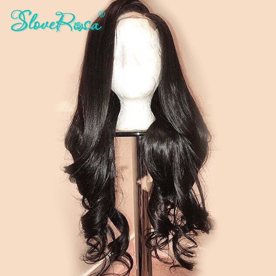 130% Density Lace Front Human Hair Wigs 13x4 Loose Wave Wigs Peruvian Remy Hair Pre Plucked Bleached Knots For Woman Slove Rosa-in Human Hair Lace Wigs from Hair Extensions & Wigs