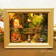 Nytt varumärke Handarbete Möbler Miniatyr DIY Doll House Wooden Doll House Leksaker För Barn Födelsedag Presenter Hantverk Barn Leksak W-006
