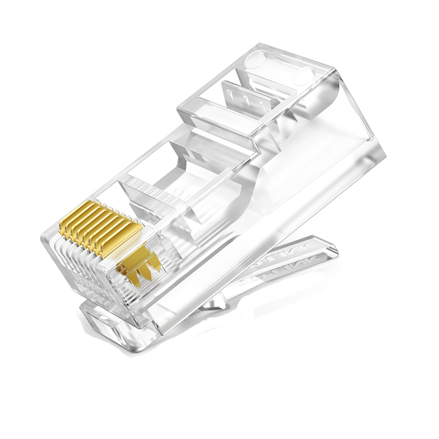 Crystal Heads 8Pin  Plug Rj45 Unshielded utp Network Cable Adapter Cat5 Cat5e Rj 45 Ethernet Cable Plugs Connector