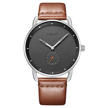 Fashion Mens Watches Top Brand Luxury Quartz Watch Men Leather Strap Simple Casual Waterproof Sport Watch Relogio Masculino цена
