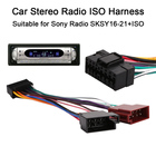 Vehemo 16Pin Car Stereo Radio Harness ISO for Sony Radio SKSY16-21+ISO Radio Play Plug Auto Adapter Wiring Harness Connector