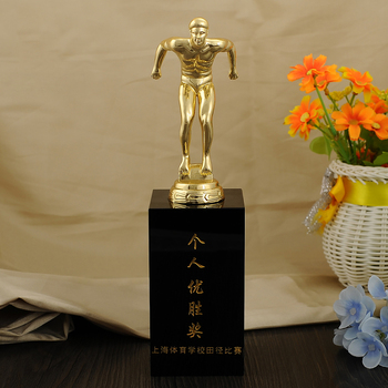 Individual sports school Tian Jin game winning trophies