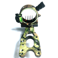 1Pcs PSE Bow Sight 5 PIN 0.019'' W/ LIGHT, Fiber Optic LED Sight ARIES CAMO BOW SIGHT Archery Bow Accessories