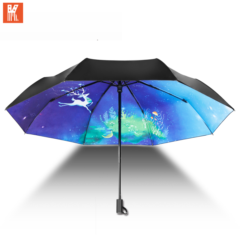 kidorable sunny and rainy umbrella parasol 3d mini folding anti uv rainproof deer folding women. Black Bedroom Furniture Sets. Home Design Ideas