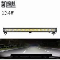 1PCS 234W LED Spot Work Light Bar Waterproof IP67 Offroad Boat Car Truck Tractor Floodlight Driving