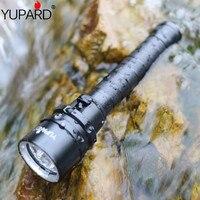 YUPARD XM-L2 led T6 3 * L2 פנס לפיד עמיד למים מתחת למים צולל צלילה מנורת לבן צהוב אור 4000 lumens 18650 סוללה