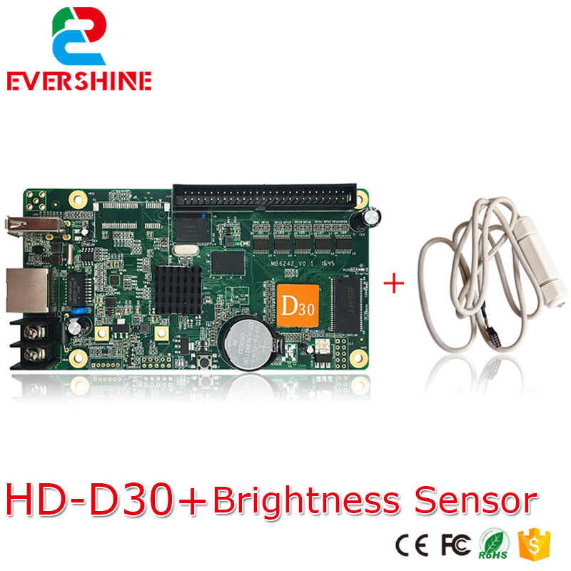 HD-D30 led door lintel full color controller 1x50 Pin Interface indoor & outdoor RGB led advertising screen control card d30 bx 6q3 usb and ethernet port lintel full color led control card asynchronous video led sign controller 384 1024 512 768pixels