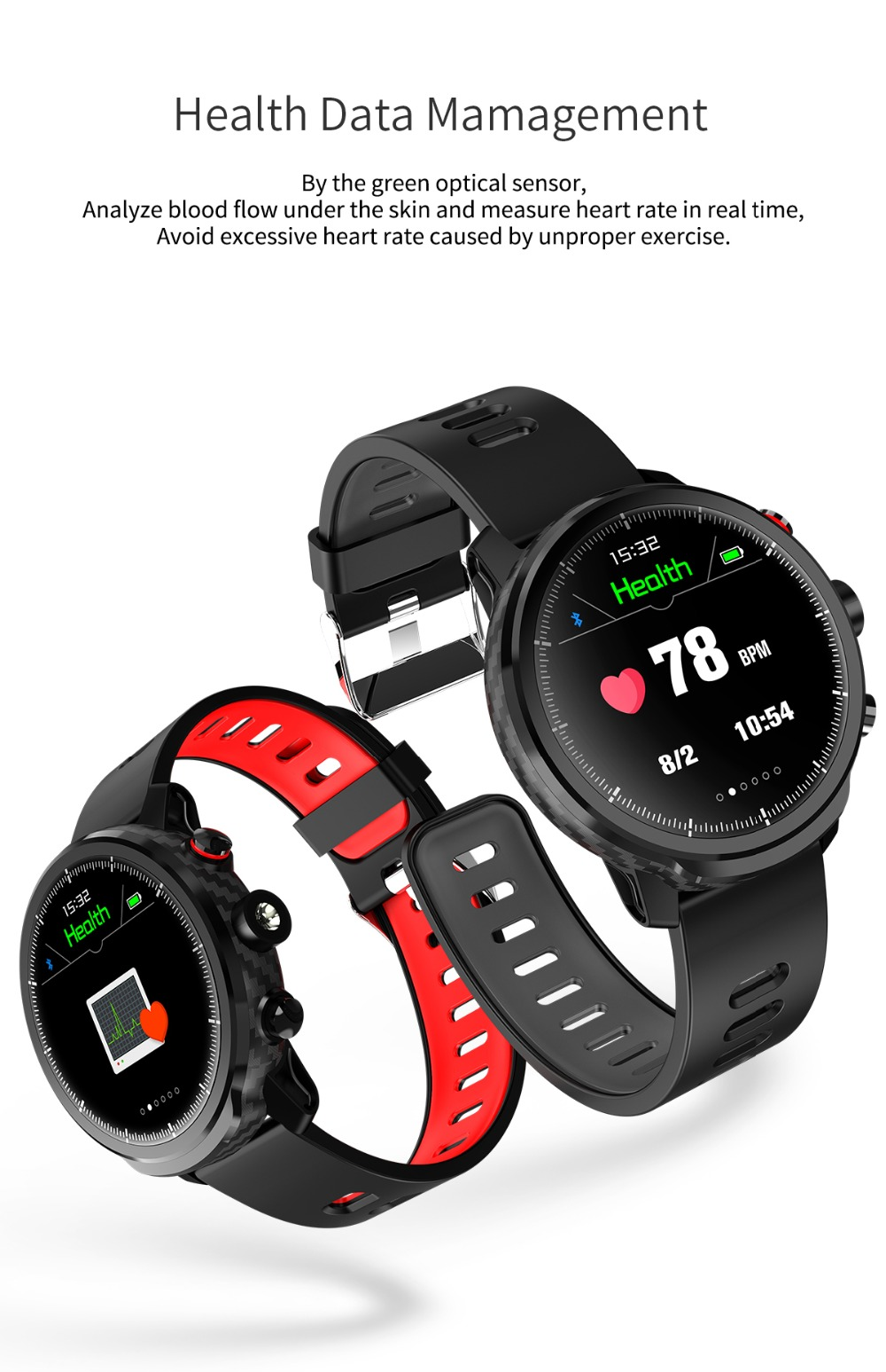 LEMFO L5 IP68 Waterproof Smart Watch For Men With Sports Mode Heart Rate Monitoring And Weather Forecast 10