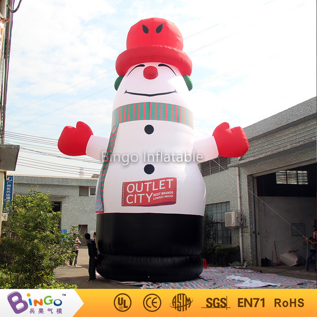 Outdoor guangdong christmas 6m inflatable snowman 2016 for events