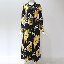 Women's Floral Printed Long Sleeves Dress