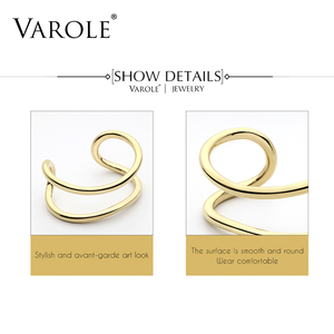 Image 5 - VAROLE New Style Gold Color Cuff Bracelets & Bangles Women High Quality Stainless Steel Bracelet Love Bangle Jewelry