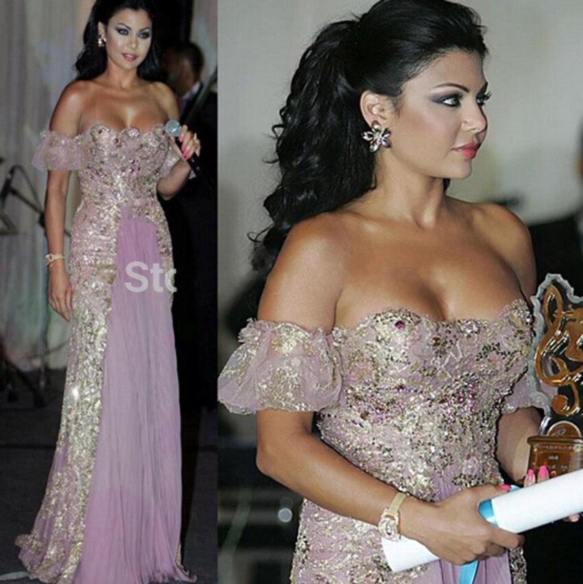 2015 Haifa Wehbe Long Evening Dresses A Line Luxury -8948