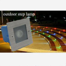 Free Shipping 85 265V LED Waterproof 1W Underground Lights Outdoor Step stairs