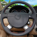 Hand-stitched Car Steering Wheel Cover for Chevrolet Aveo Lova Buick Excelle Daewoo Gentra 2013-2015 Chevrolet Lacetti 2006-2012
