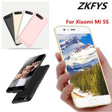ZKFYS Ultra Thin Fast Charger Battery Cover For Xiaomi Mi 5S Charging Box Back Clip Case Large Capacity 6000mAh