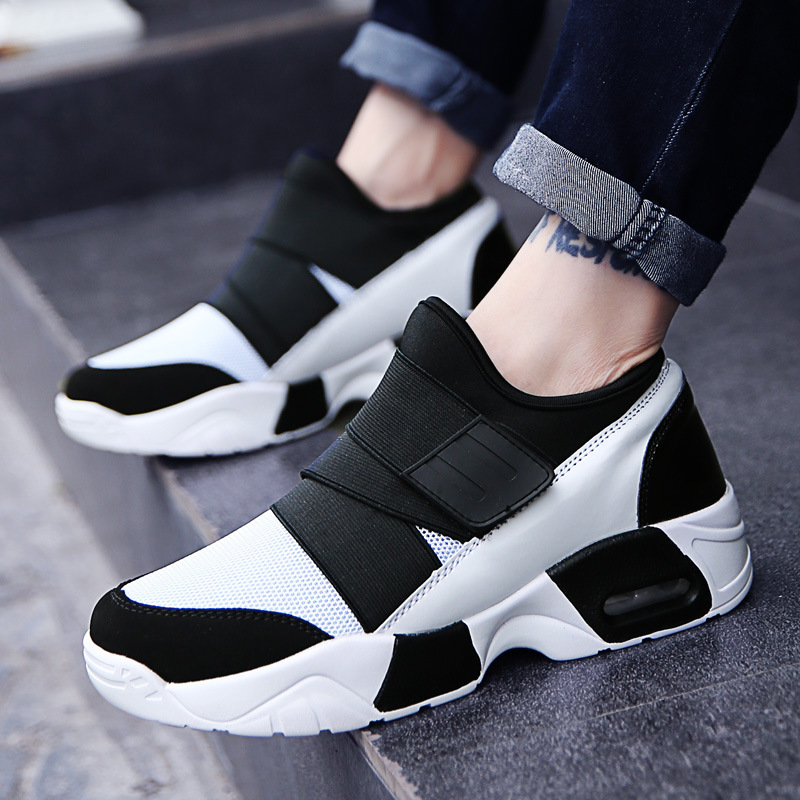 2018 Spring Autumn Men Trainers Sneaker Casual Shoes Breathable Mesh Boy Shoes Fashion Up Flats Male Plus Size 39-45 hook loop air mesh breathable hook
