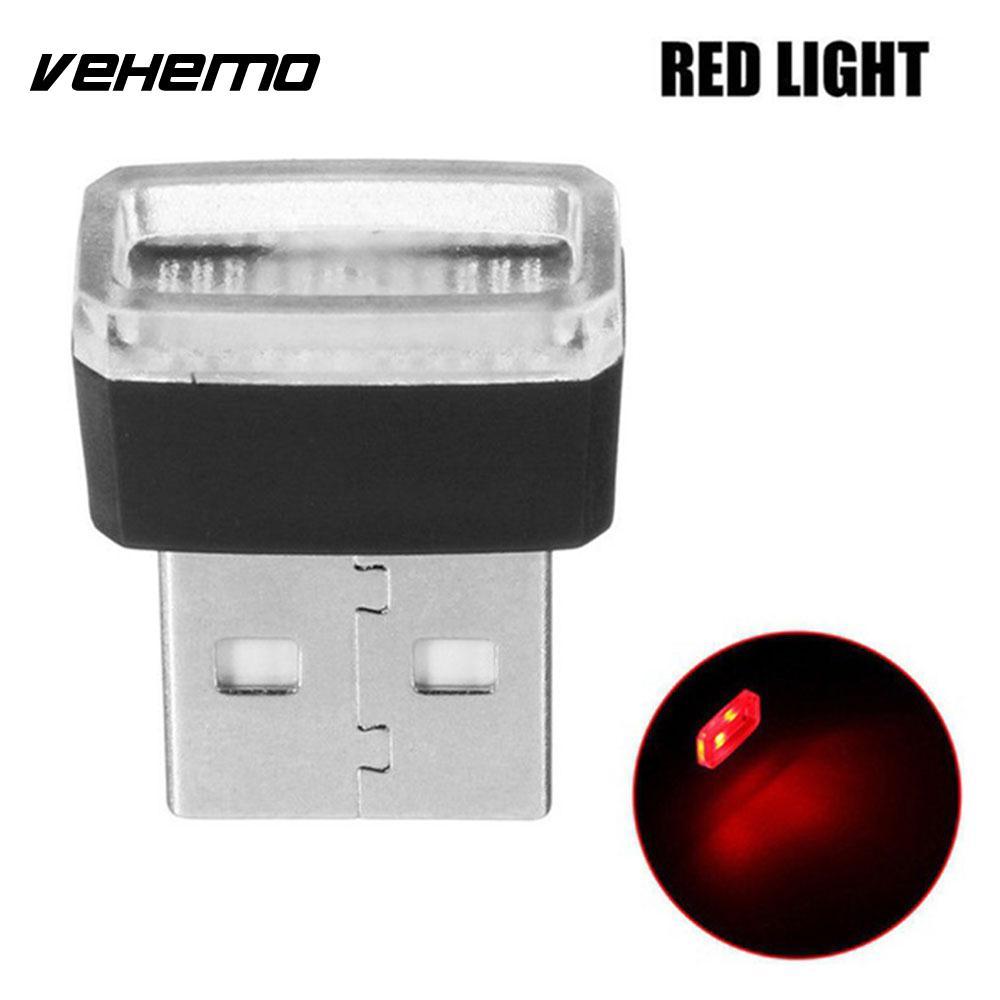 Vehemo Волшебные светодиодные фонарики атмосферный Свет Usb светодиодный свет автомобильное освещение беспроводной мини банк питания - Испускаемый цвет: red